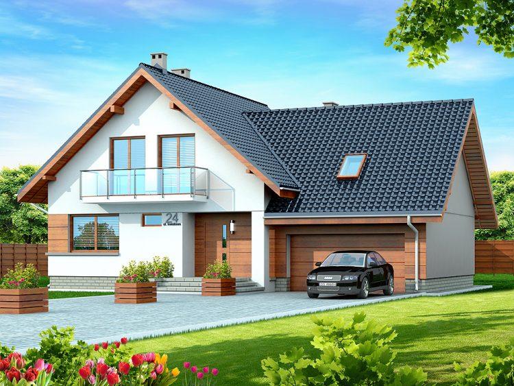 domy parterowe z garażem