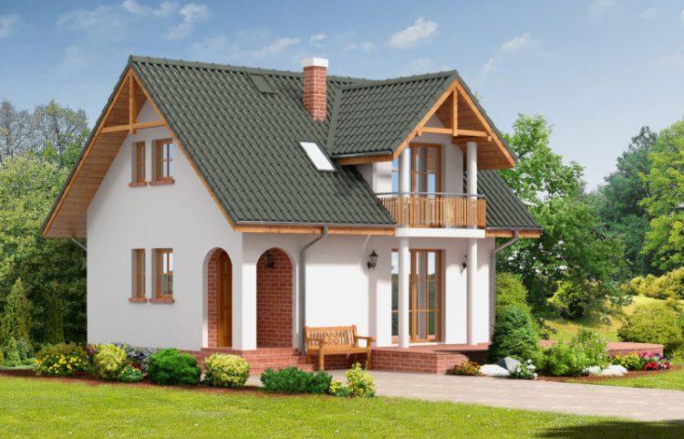 projekty domów bez garażu
